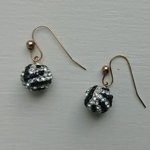 Jewelry - Crystal ball earrings